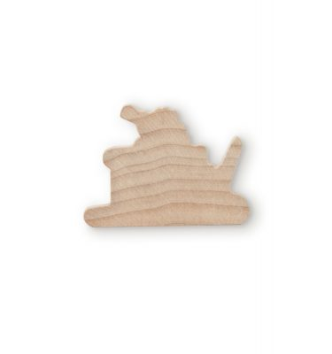 2 inch Wooden Santa & Sleigh Cutout | Woodworks Ltd.