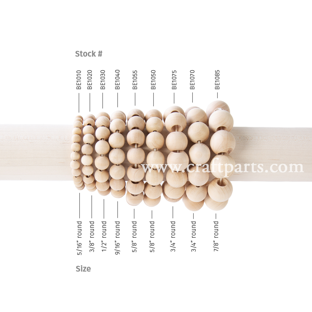 Natural 20mm WHOLESALE BULK Price Round Wooden Beads Pack of 100