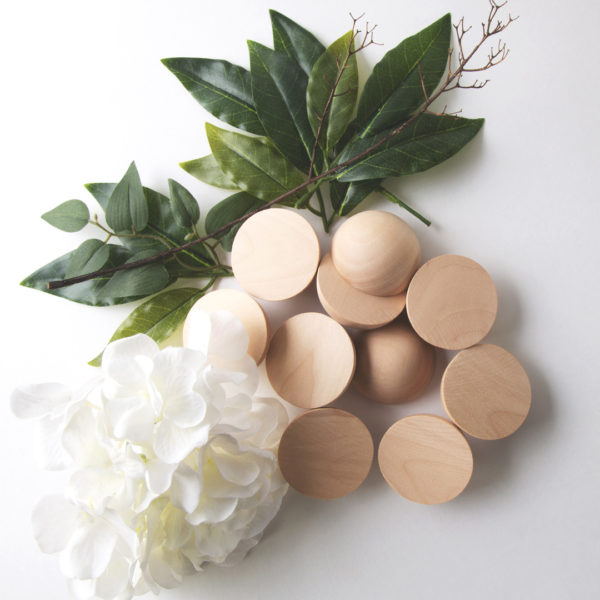 """2"""" split wood ball halves for wreath making available for immediate shipping"""