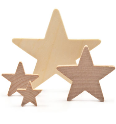 Star Cut Outs, Wooden